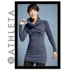 Athleta Intention Gray Hooded Dress Size S